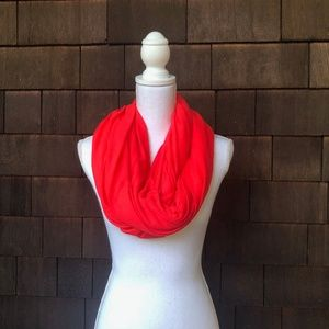 Calvin Klein Infinity Scarf in Bright Coral